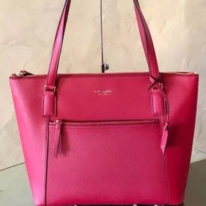 Kate spade Cameron pocket tote rosso red